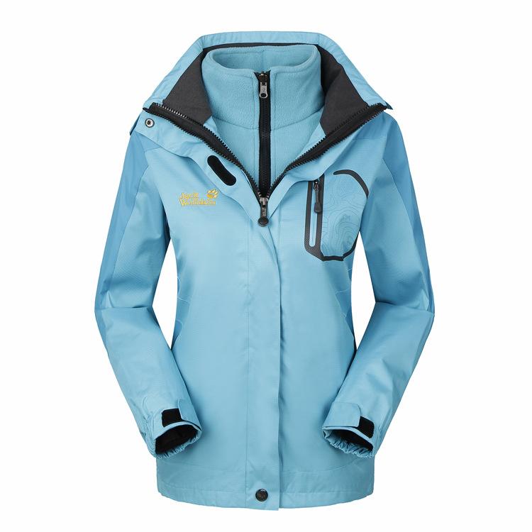 情侣款两件套双面绒冲锋衣防风挡雨户外钓鱼登山定做加工订LOGO