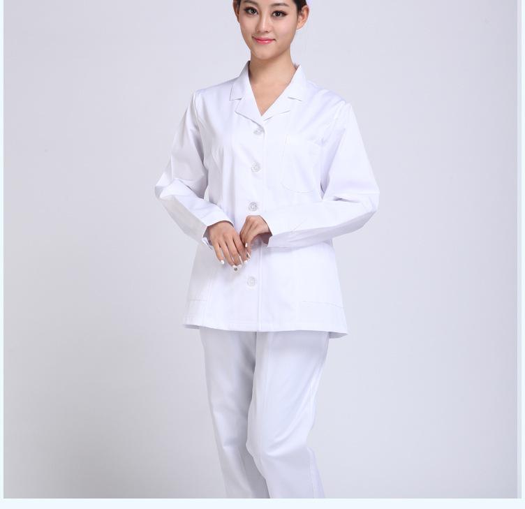女医生分体秋冬装白色 医师长袖冬装实验药店实习护士服装
