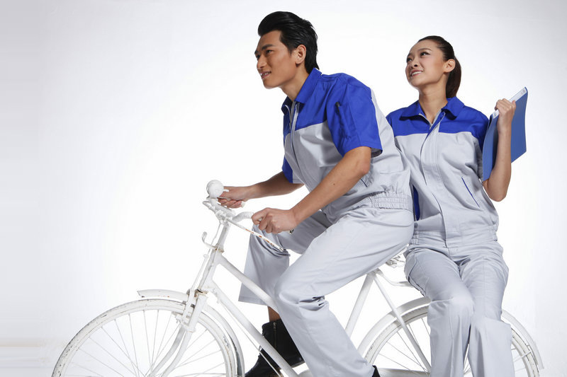 夏季工作服 短袖工作 套装男工服汽修工装制服
